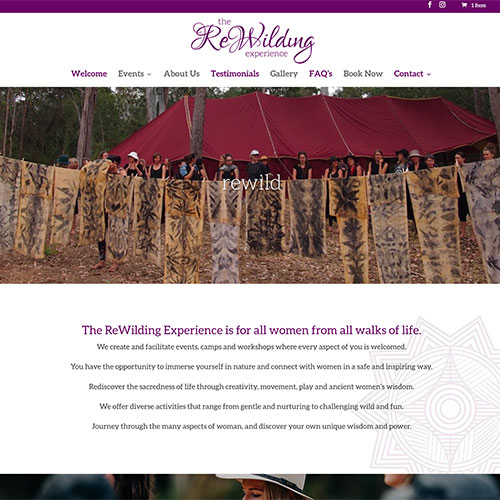 rewilding womens bush camp